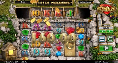 Bonanza Megaways Review Slots Multiple winning reactions trigger a 160.00 payout.