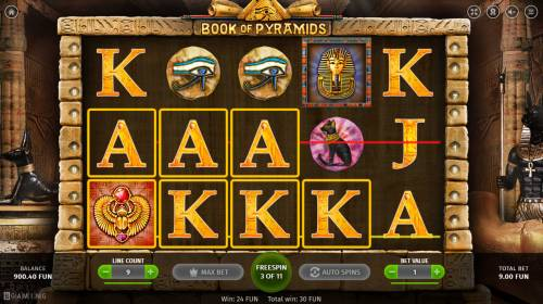 Book of Pyramids Review Slots Multiple winning paylines