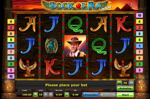 Book of Ra Deluxe Review Slots Book Of Ra slot game board