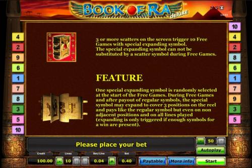 Book of Ra Deluxe Review Slots Book Of Ra slot game scatter symbol and special expanding symbol