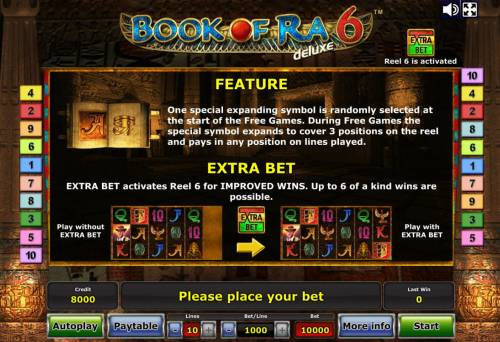 Book of Ra Deluxe 6 Review Slots Feature Rules and Extra Bet Rules