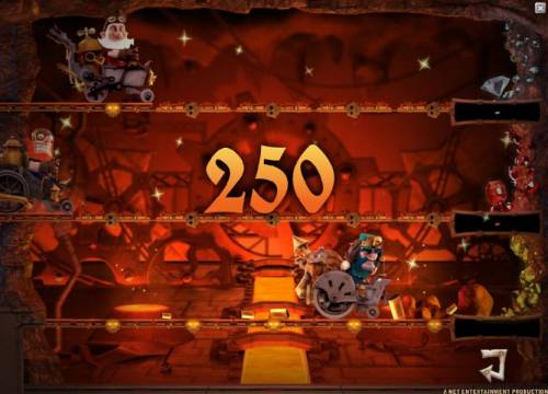 Boom Brothers Review Slots 250 coin prize awarded during bonus game feature