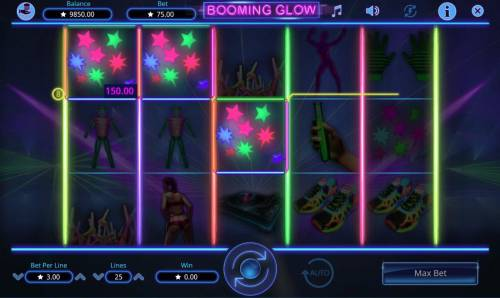 Booming Glow Review Slots A winning Three of a Kind.