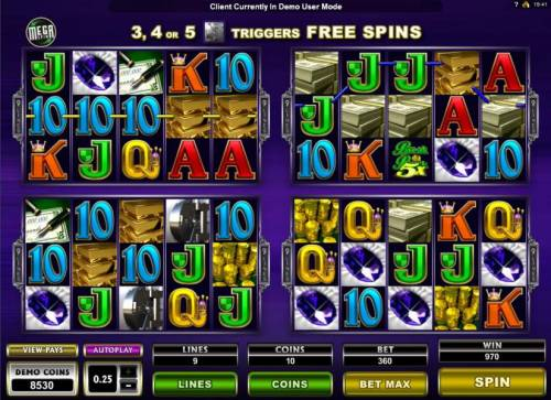 Break da Bank Again II Review Slots Two of the geames triggers a 970 coin jackpot