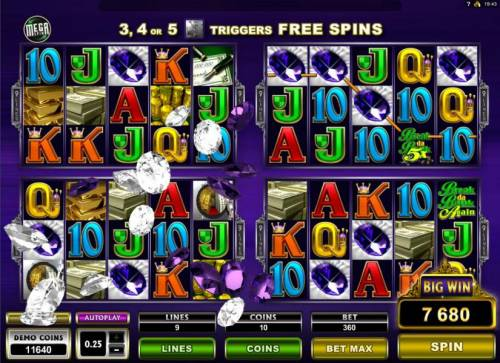 Break da Bank Again II Review Slots Big Win triggers a 7680 coin payout