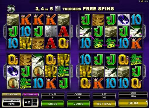 Break da Bank Again II Review Slots Four of a kond with 5x multiplier trigges a 1780 coin Big Win!a