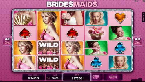 Bridesmaids Review Slots A $1,875 big win triggered by multiple winning combinations
