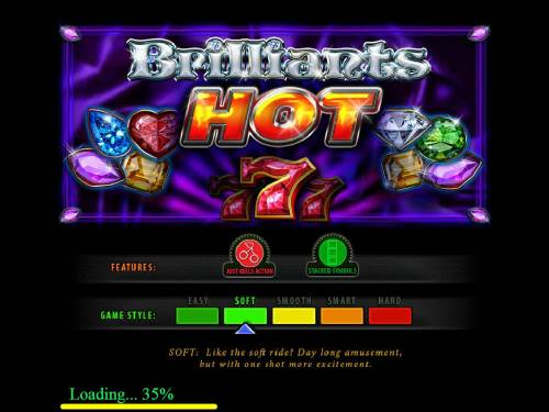 Brilliants Hot Review Slots Game features include: Just Reels Action, Stacked Symbols and the game style is soft.