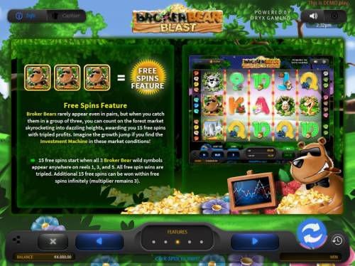 Broker Bear Blast Review Slots Free Spins Feature Rules