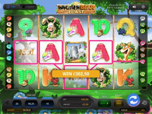 Broker Bear Blast Review Slots Two 4 of a kinds triggers a 302,50 jackpot.