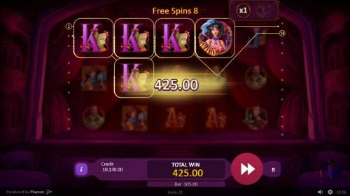 Burlesque Queen Review Slots Free Spins Game Board