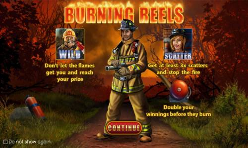Burning Reels Review Slots Game features include: Wilds, Scatters and Free Spins with Win Multiplier