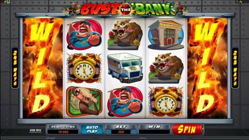 Bust the Bank Review Slots Main game board featuring five reels and 243 ways