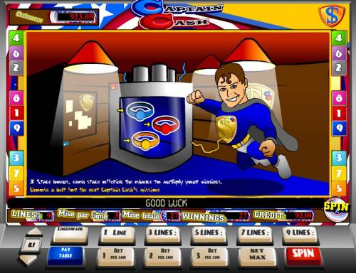 Captain Cash Review Slots The third and final stage of the bonus is selecting a belt for captain Cash.