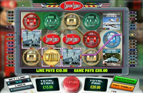 Captain Scarlet Review Slots a combination of two winning paylines triggers a $20 jackpot