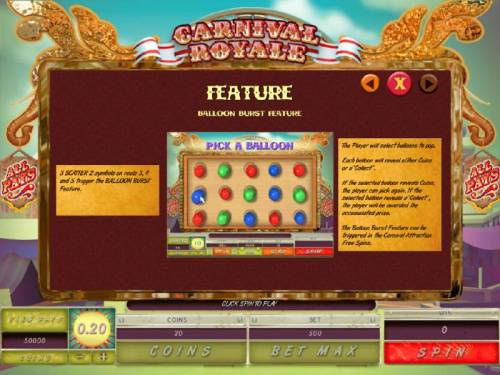 Carnival Royale Review Slots Balloon Burst Feature Game Rules