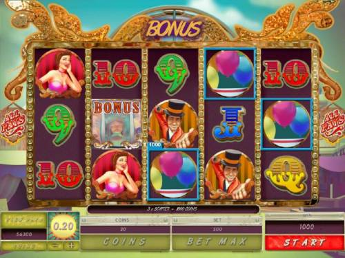 Carnival Royale Review Slots Bonus feature awarded.