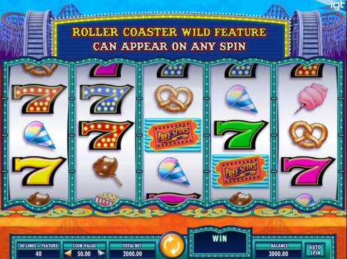 Cash Coaster Review Slots Main game board featuring five reels and 30 paylines with a $250,000 max payout