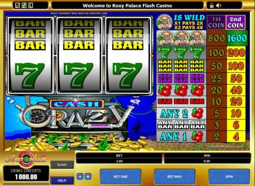 Cash Crazy review on Review Slots