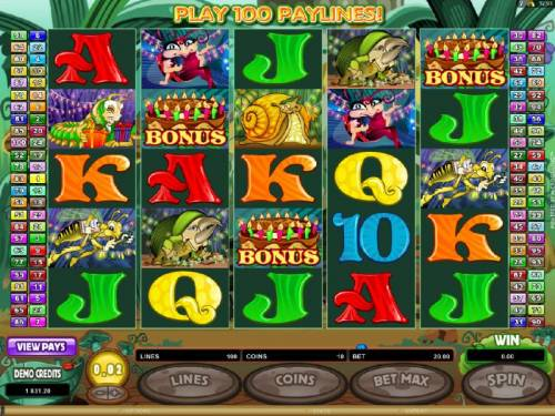 Cashapillar Review Slots Three Bonus Symbols triggers Free Spins feature