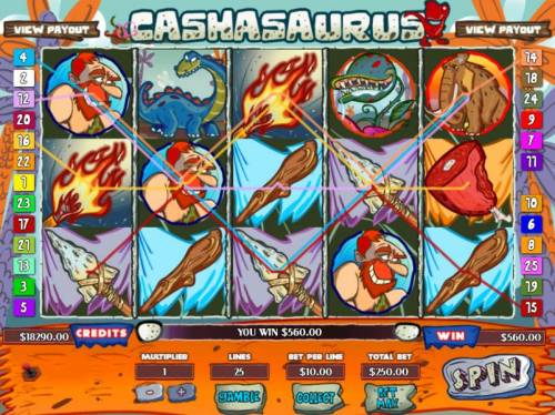 Cashasaurus Review Slots Multiple winning paylines triggers a big win!