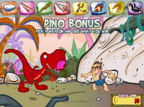 Cashasaurus Review Slots Dino Bonus - Select a weapon and see what you win.