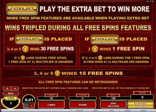 CashOccino Review Slots Play the Extra Bet to win more. More Free Spin features are available when playing Extra Bet