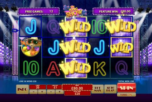 Cat in Vegas Review Slots Sticky wilds triggers multiple winning paylines during the free games feature.