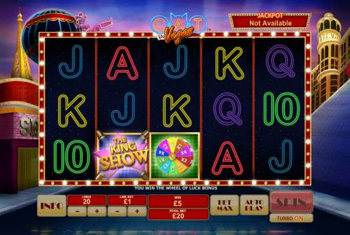 Cat in Vegas Review Slots Landing the wheel icon anywhere on reel 3, triggers the Wheel of Luck feature.