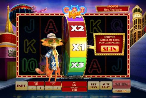 Cat in Vegas Review Slots Spin the Wheel of Luck to win cash prizes.