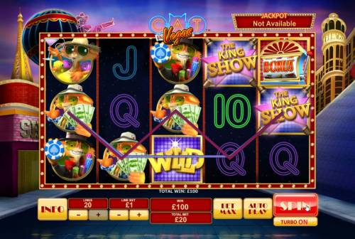 Cat in Vegas Review Slots A couple of winning paylines leads to a 100.00 payout.