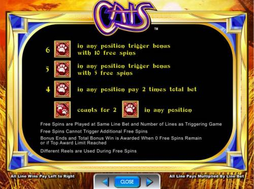 Cats Review Slots Free Spins Bonus rules