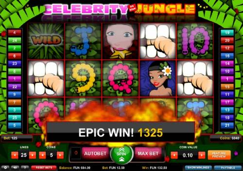 Celebrity in the Jungle review on Review Slots