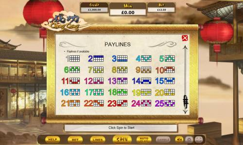Cheng Gong Review Slots Paylines 1-25