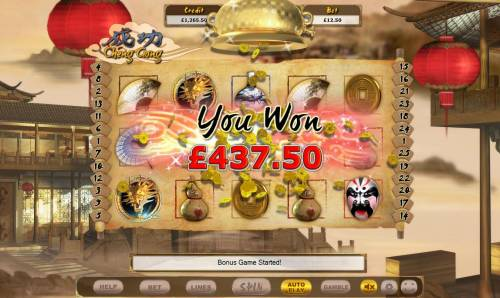 Cheng Gong Review Slots Scatter feature triggers a 437 coin win