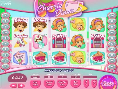 Cherrie's Diner review on Review Slots