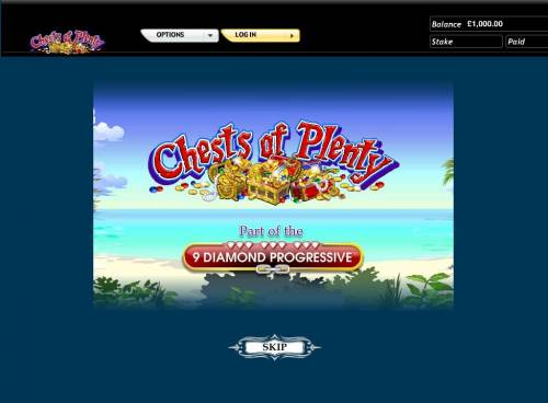 Chests of Plenty Review Slots Splash screen - game loading - Pirate Theme