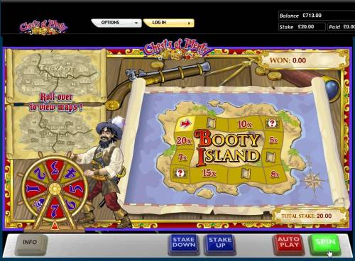 Chests of Plenty Review Slots Spin the wheel to advance around the game board.