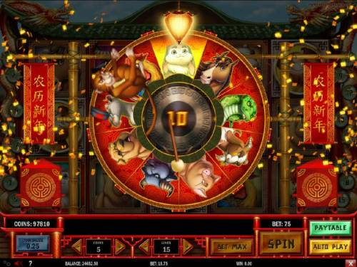 Chinese New year Review Slots 10 free spins awarded.