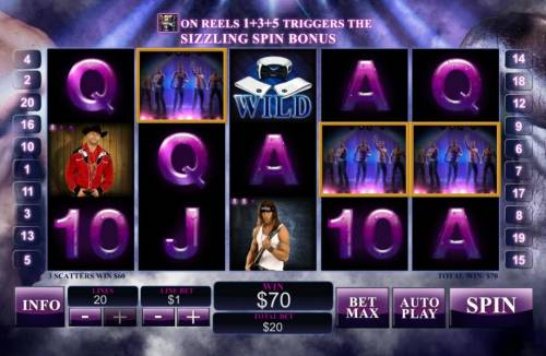 Chippendales Review Slots Three scatter symbol trigger a $60 pay out