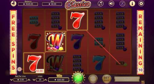 Classico Review Slots Free Spins Game Board
