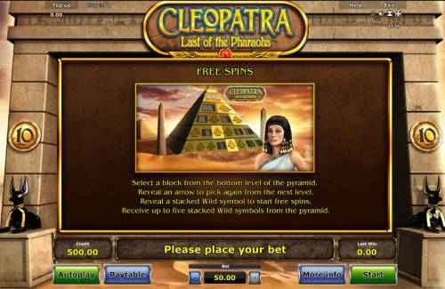 Cleopatra Last of the Pharaohs review on Review Slots