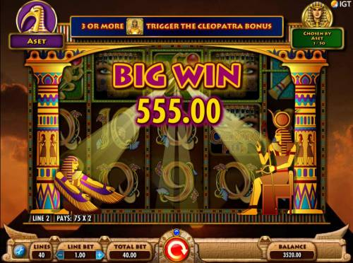 Cleopatra Plus Review Slots A 550.00 big win triggered by wild X2 multipliers