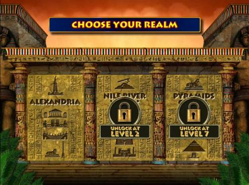 Cleopatra Plus Review Slots Choose a realm. Here you will only have one choice when first starting out until you unlock game features.