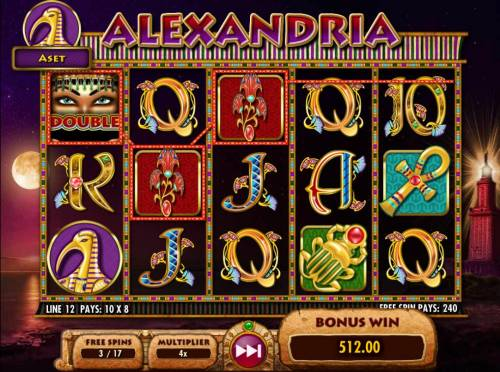 Cleopatra Plus Review Slots A 512.00 big win triggered during the free spins feature.