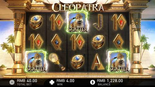 Cleopatra Review Slots Three or more scatters anywhere on the reels triggers the Free Spins feature