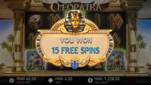 Cleopatra Review Slots 15 Free Spins awarded