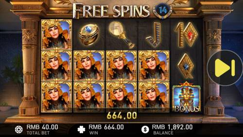 Cleopatra Review Slots A 664.00 jackpot triggered during the free spins feature