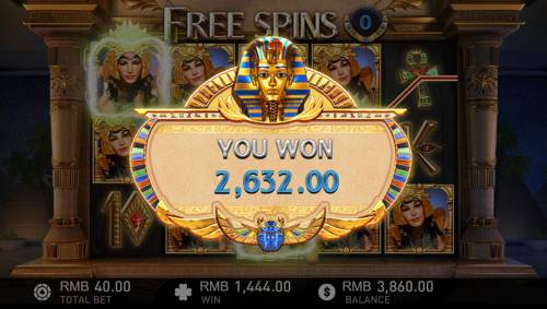 Cleopatra Review Slots Free Spins feature pays out a total of 2,632.00