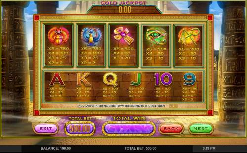 Cleopatras Gold Slot - Play Free Leander Games Slots Online